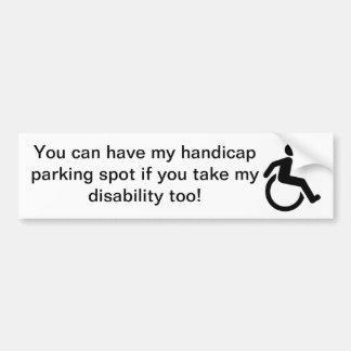 Adhésif pour pare-chocs d'handicap autocollant de voiture