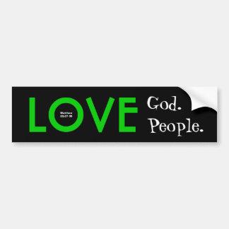 Adhésif pour pare-chocs :  Dieu d'amour.  Autocollant De Voiture