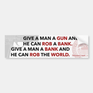 """Adhésif pour pare-chocs """"donnez à un homme arme à  adhésifs pour voiture"""