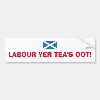 Adhésif pour pare-chocs d'Oot du thé écossais de