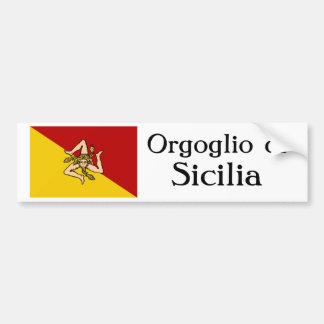 Adhésif pour pare-chocs d'Orgoglio di Sicilia Autocollant Pour Voiture