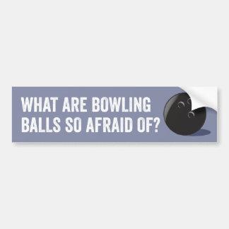 Adhésif pour pare-chocs drôle de boule de bowling autocollant pour voiture