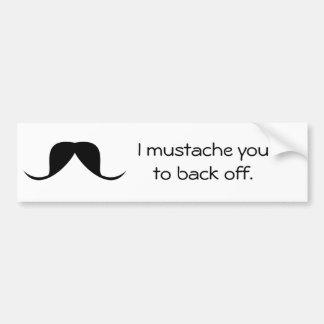 Adhésif pour pare-chocs DRÔLE - moustache Autocollant Pour Voiture