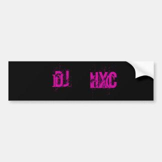 Adhésif pour pare-chocs du DJ HxC Autocollant Pour Voiture