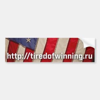 Adhésif pour pare-chocs du drapeau américain autocollant de voiture
