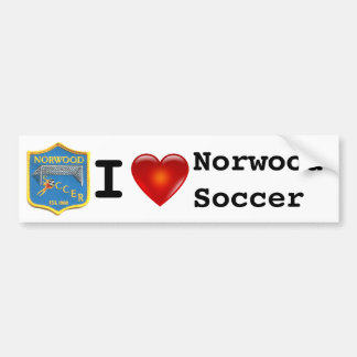 Adhésif pour pare-chocs du football de Norwood Autocollant Pour Voiture