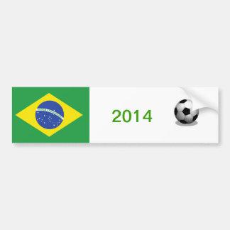 Adhésif pour pare-chocs du football du Brésil Autocollant De Voiture