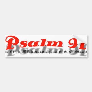 adhésif pour pare-chocs du psaume 91 (langue de yo autocollant pour voiture