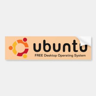 Adhésif pour pare-chocs d'Ubuntu Autocollant Pour Voiture