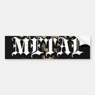 """Adhésif pour pare-chocs """"en métal vintage"""" de Rock Autocollant Pour Voiture"""
