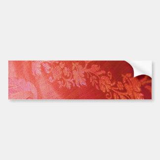 Adhésif pour pare-chocs floral rouge d'élégance -  autocollant pour voiture
