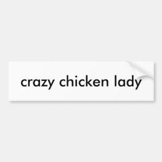 Adhésif pour pare-chocs fol de dame de poulet autocollant de voiture