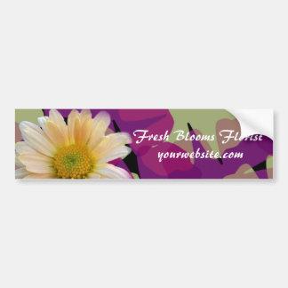 Adhésif pour pare-chocs frais de fleuriste de fleu autocollant de voiture