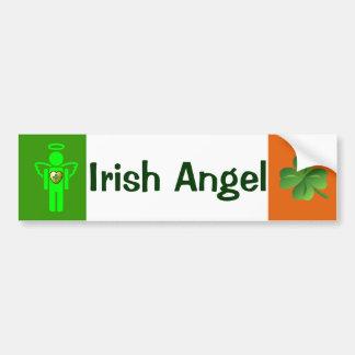 Adhésif pour pare-chocs irlandais d'ange autocollant de voiture
