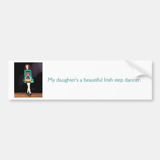 Adhésif pour pare-chocs irlandais de danseur adhésif pour voiture