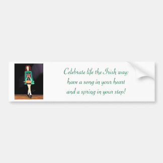 Adhésif pour pare-chocs irlandais de danseur autocollant pour voiture