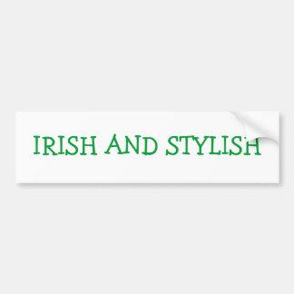 Adhésif pour pare-chocs irlandais et élégant autocollant de voiture