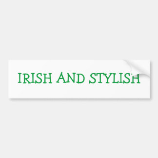 Adhésif pour pare-chocs irlandais et élégant adhésifs pour voiture