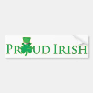 Adhésif pour pare-chocs irlandais fier autocollant de voiture