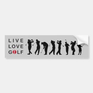 Adhésif pour pare-chocs jouant au golf de golf autocollant de voiture