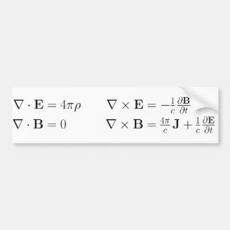 Adhésif pour pare-chocs, les équations de Maxwell Autocollant De Voiture