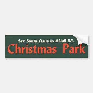 adhésif pour pare-chocs---Noël-parc Autocollant Pour Voiture