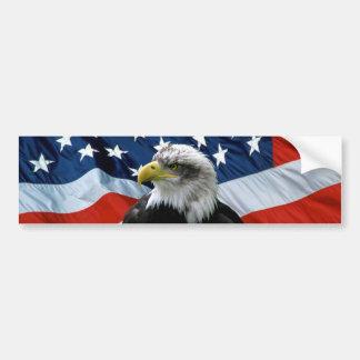 Adhésif pour pare-chocs patriote de drapeau améric autocollant pour voiture