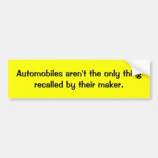 Adhésif pour pare-chocs rappelé d'automobile autocollant de voiture