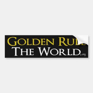 """Adhésif pour pare-chocs """"règle d'or le monde """" autocollant de voiture"""