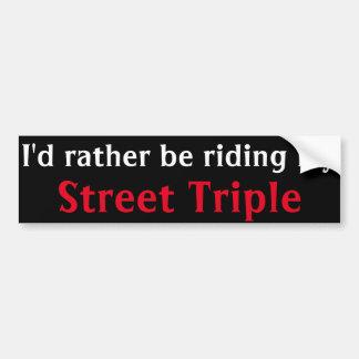 adhésif pour pare-chocs triple de rue autocollant de voiture