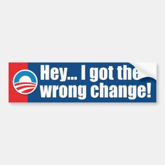 Adhésifs pour pare-chocs d'Anti-Obama Autocollant Pour Voiture