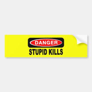 Adhésifs pour pare-chocs stupides de mises à mort autocollant de voiture
