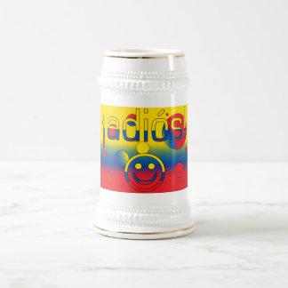 ¡ Adiós Le drapeau de l Equateur colore l art de Tasse À Café