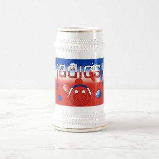 ¡ Adiós Le drapeau du Chili colore l art de brui Tasse À Café
