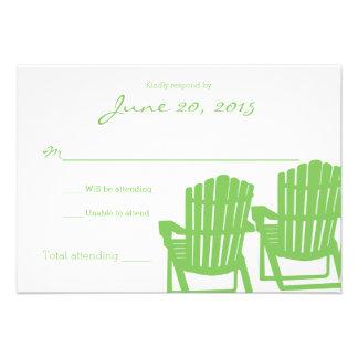 Adirondack préside la carte de réponse de mariage cartons d'invitation personnalisés