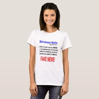 Adjectif de médias de courant principal t-shirt