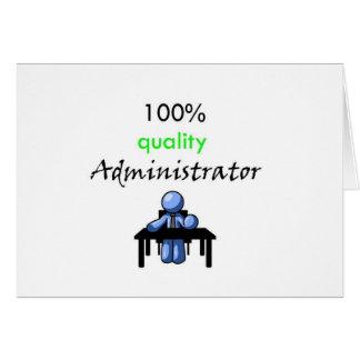 administrateur 100% de qualité carte de vœux