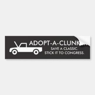 ADOPT-A-CLUNKER AUTOCOLLANT DE VOITURE