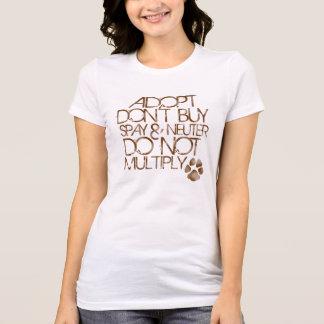 Adopt n'achètent pas la pièce en t mince t-shirt