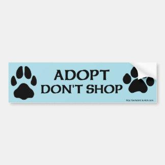Adopt ne font pas des emplettes avec l'empreinte autocollant de voiture