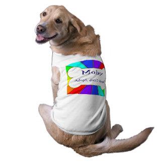 Adopt ne font pas des emplettes pièce en t de t-shirt pour chien