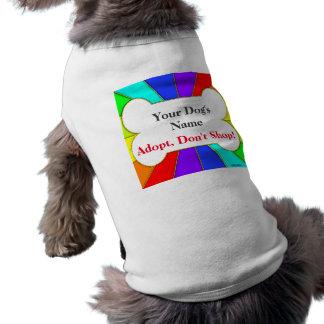 Adopt ne font pas des emplettes pièce en t t-shirt pour chien