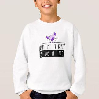 Adoptez des économies de chat par vie sweatshirt