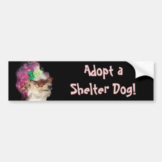 Adoptez un adhésif pour pare-chocs de chien de autocollant de voiture