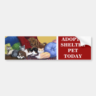 ADOPTEZ un ANIMAL FAMILIER AUJOURD'HUI Autocollant Pour Voiture