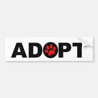 Adoptez un animal familier autocollant pour voiture