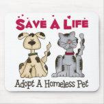 Adoptez un animal familier sans abri Mousepad Tapis De Souris