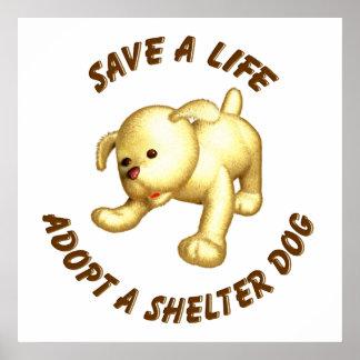 Adoptez un chien d'abri poster