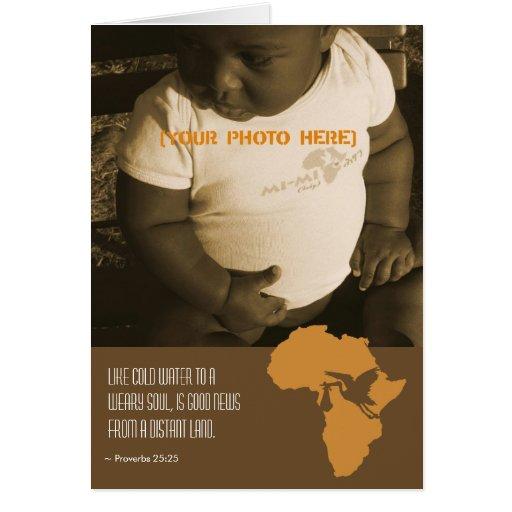 Adoption africaine - cartes de faire-part