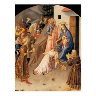 Adoration d'ATF Angelico- des Magi Carte Postale